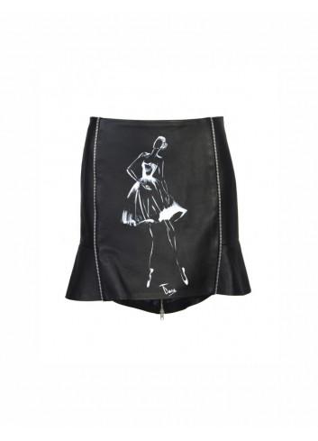 Danielle Leather Skirt