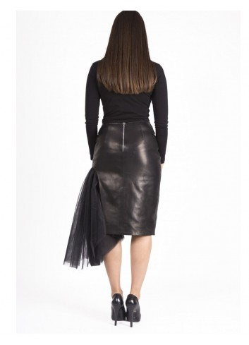 Anna Leather Skirt