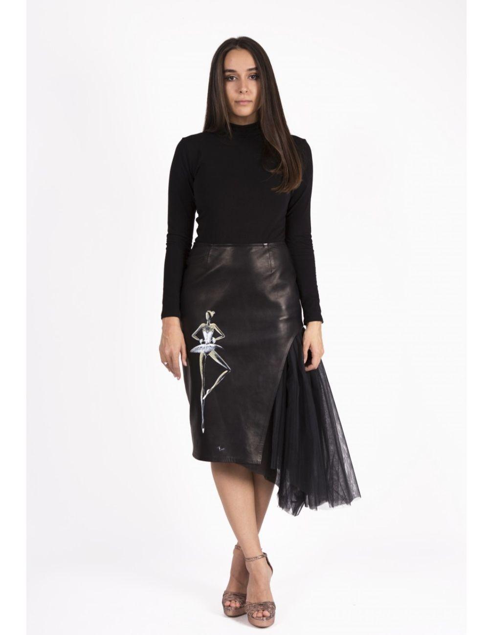 Anna Leather Skirt