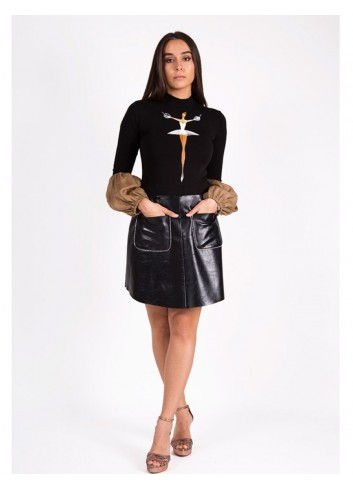 Inga Leather Skirt