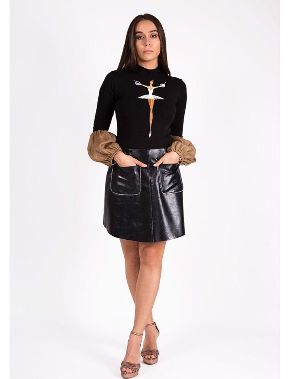 Inga Leather Skirt