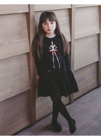 Black Princess Girl Dress