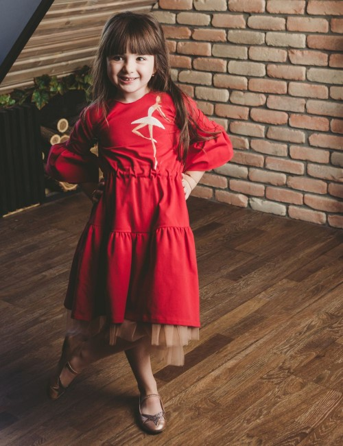 Red Princess Girl Dress