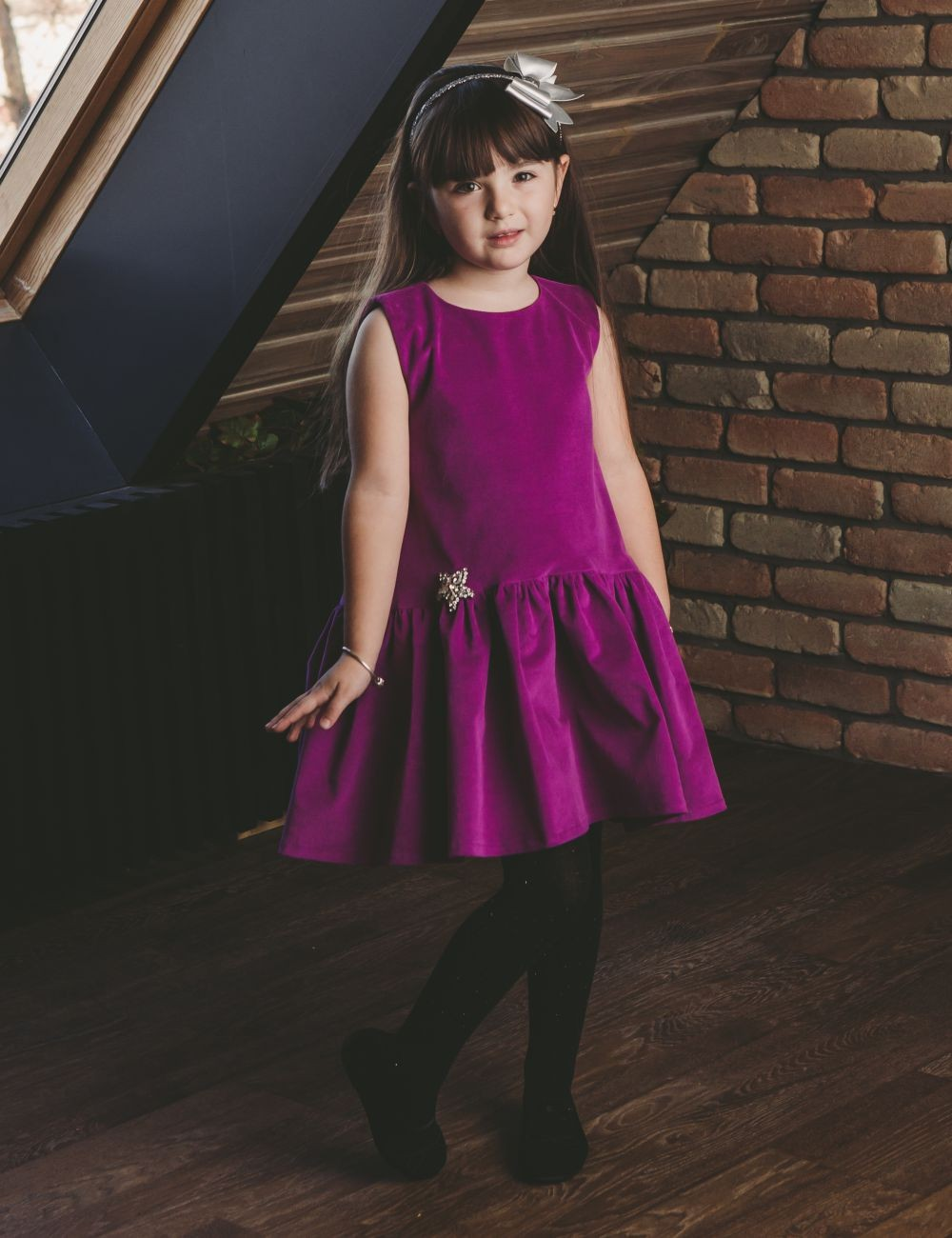 Velvet Princess Girl Dress