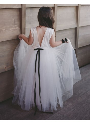 White Princess Girl Dress