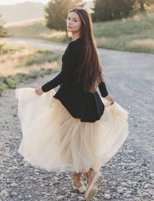 Tricou bumbac Thankful Ballerina