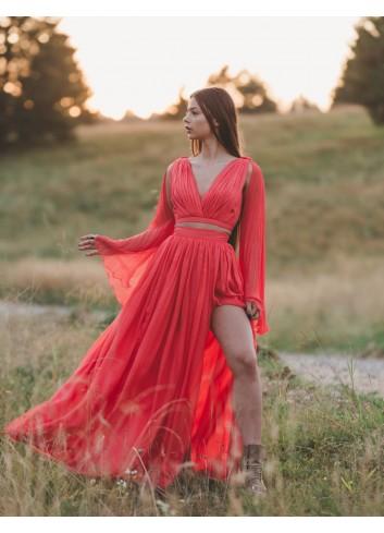 Rochie de ocazie Red illusion