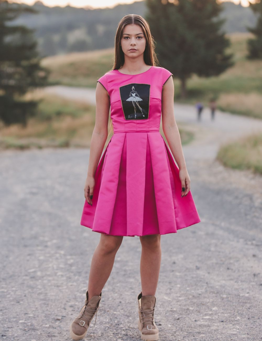 Hot pink Evening Dress