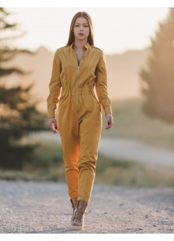 Dynamic Yellow Balerina Jumpsuit