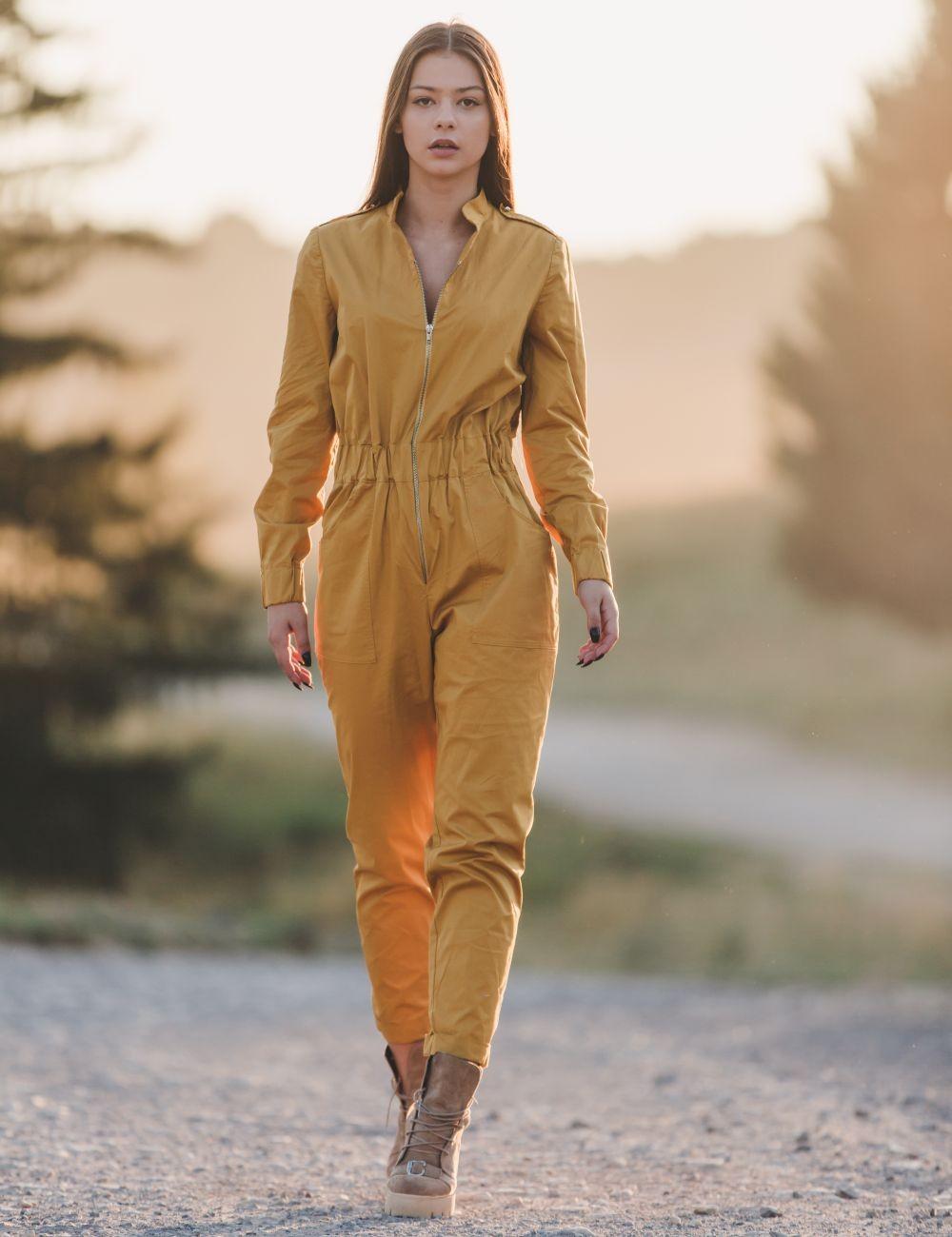 Dynamic Yellow Balerina Jumpsuit