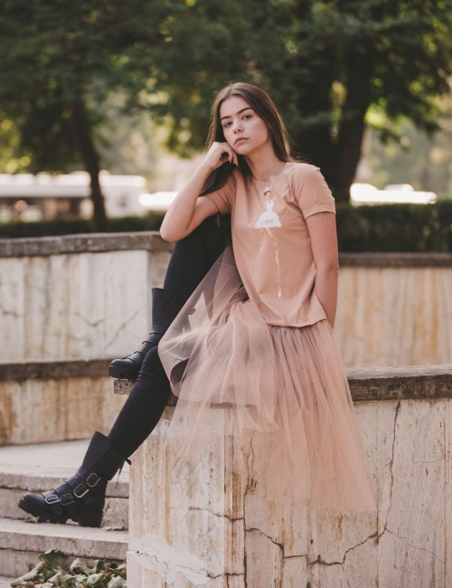 Sophisticated Ballerina Casual Dress